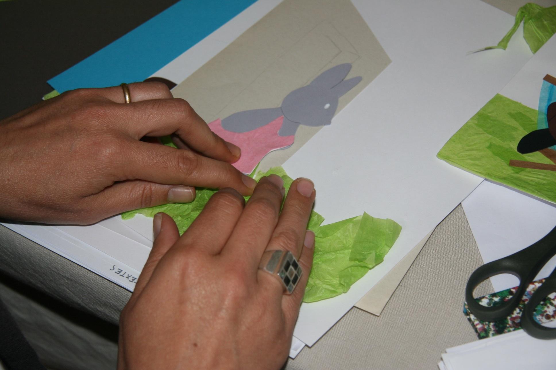 technique papiers déchirés